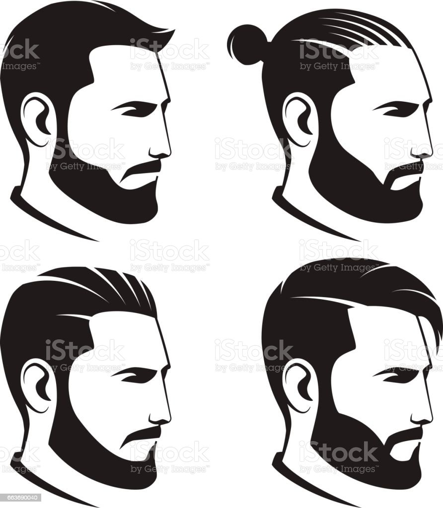 Royalty Free Handsome Clip Art, Vector Images ... Men Hair Clipart