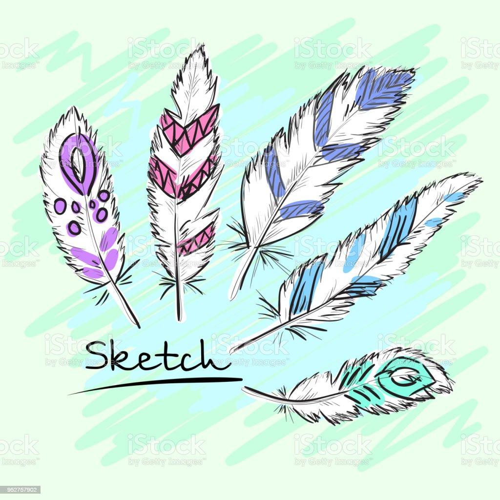 Magnífico Plumas Del Arte Del Uña Migi Ornamento - Ideas de Pintar ...