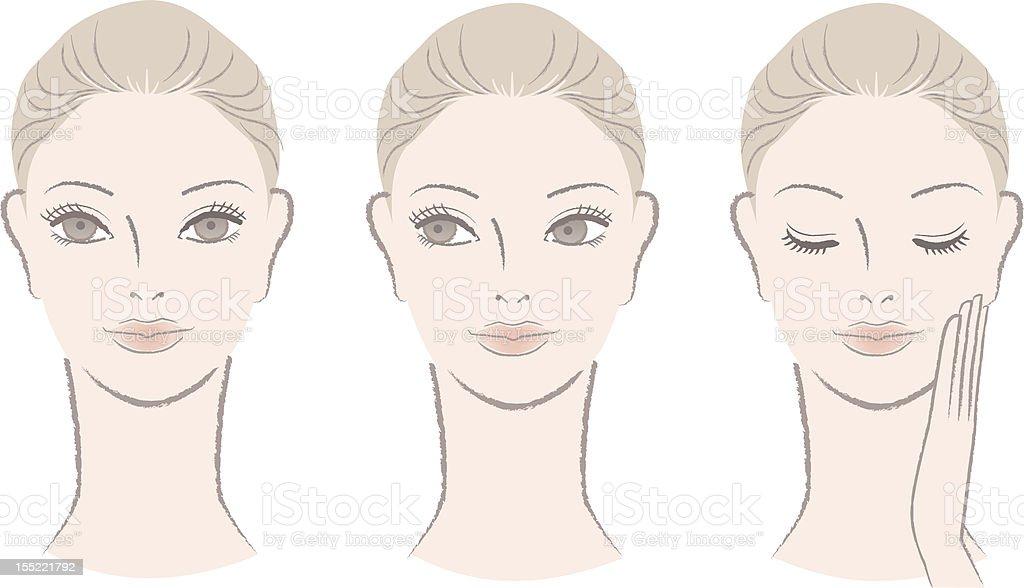 Set of Beautiful fresh woman portrait vector art illustration