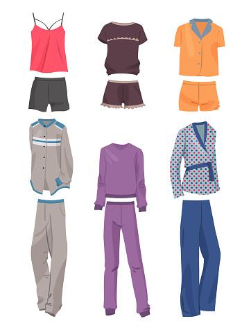 Set of beautiful pajamas