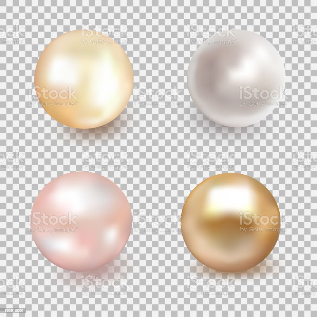 Set of beautiful shiny sea pearl - Royalty-free Abstract stock vector