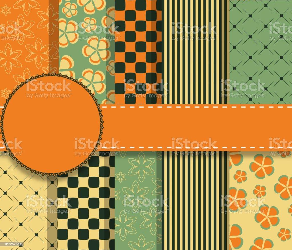 set of beautiful vector paper for scrapbook royalty-free stock vector art