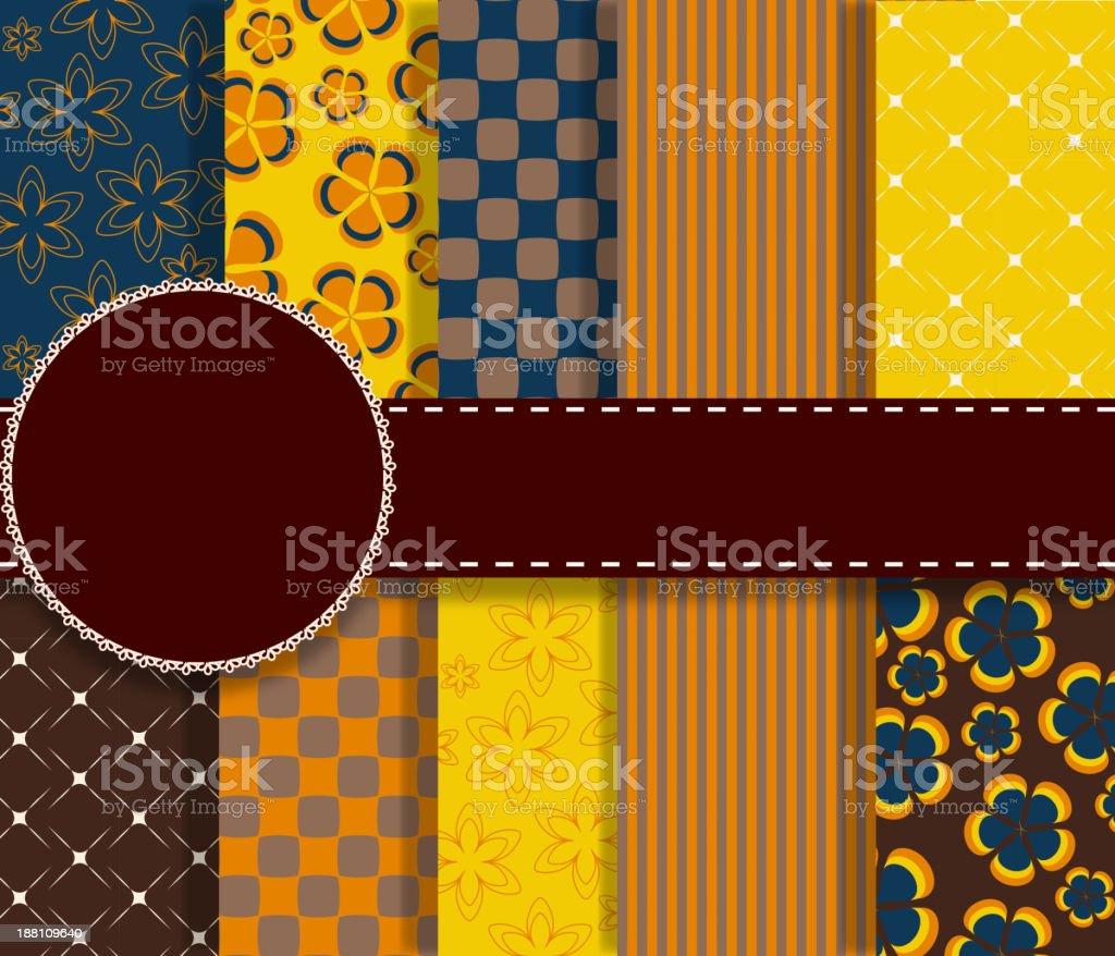 set of beautiful vector paper for scrapbook royalty-free set of beautiful vector paper for scrapbook stock vector art & more images of almanac - publication