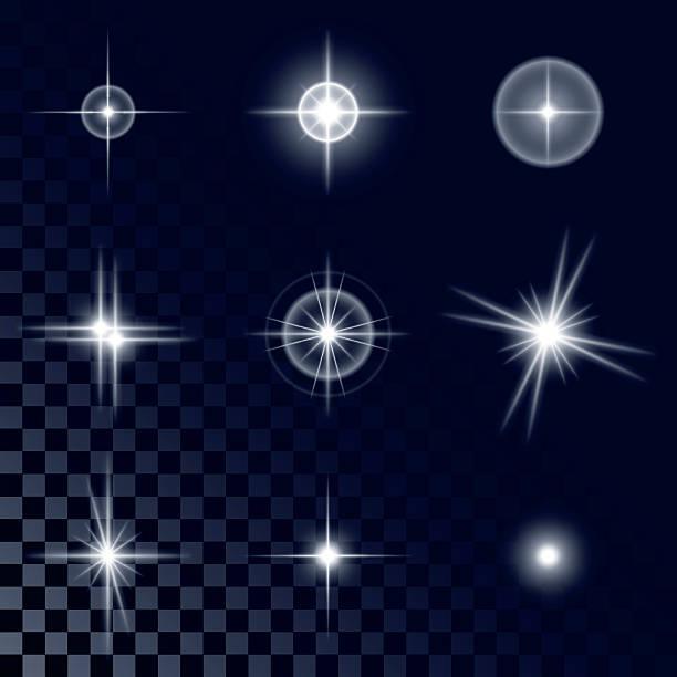 Bекторная иллюстрация Набор красивых белые звезды