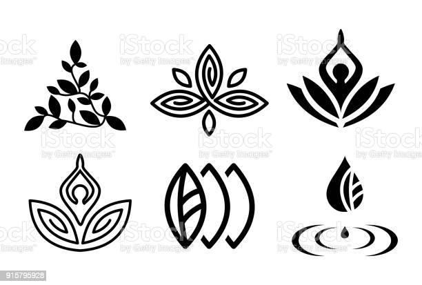 Set of beautiful yoga and spa symbols and logotypes vector vector id915795928?b=1&k=6&m=915795928&s=612x612&h=4y3lt0tttwzcx7xybzap61lbn2dmxvqfow9h29ulp c=