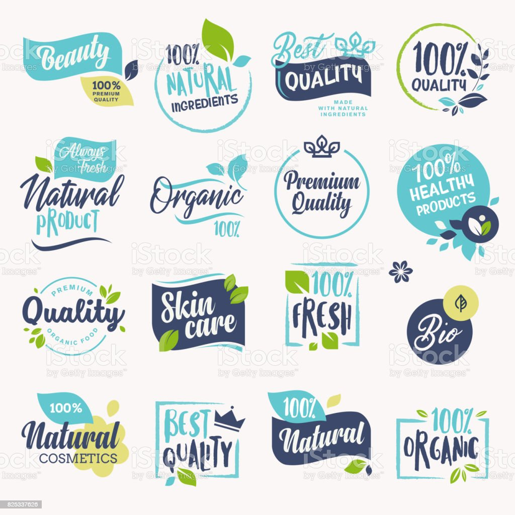 Set of beauty and cosmetics, spa and wellness labels and badges royalty-free set of beauty and cosmetics spa and wellness labels and badges stock illustration - download image now
