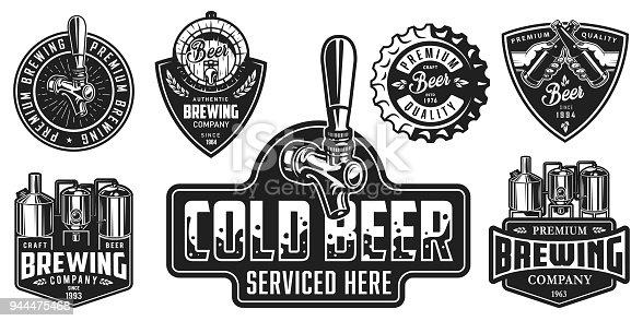 Set of beer badges