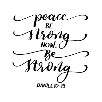 Set Of Bible Lettering Quote. Positive Vibe Word