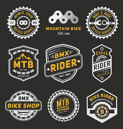 Set of bicycle badge logo template desig