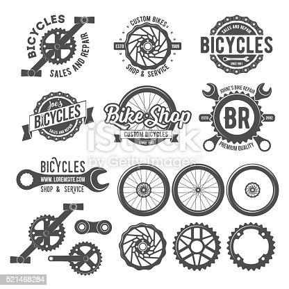 Set of bicycle badges