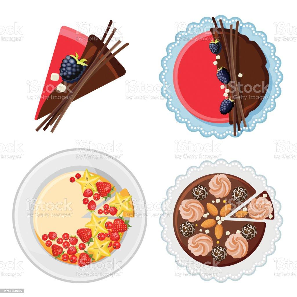 Fabulous Set Of Birthday Cakes With Fresh Organic Fruits Chocolate Sticks Personalised Birthday Cards Akebfashionlily Jamesorg
