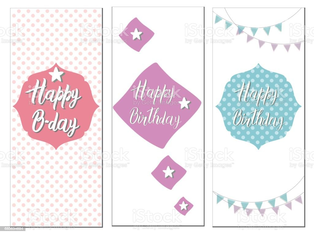 Set of Birthday cards royalty-free set of birthday cards stock vector art & more images of abstract