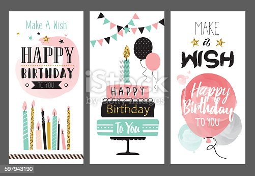 Free download of Happy Birthday Poster TO Print vector