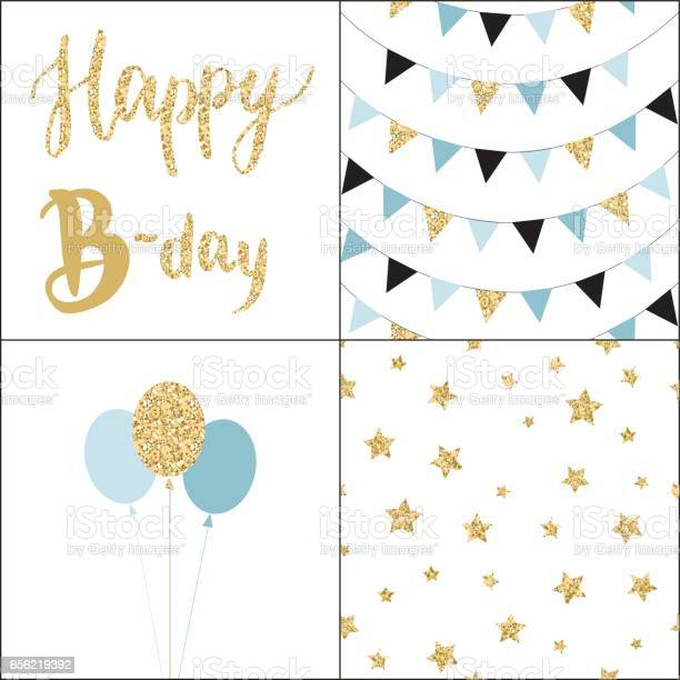 Set of birthday party cards and seamless pattern backgrounds vector id656219392?b=1&k=6&m=656219392&s=612x612&h=dkbiyykyzr3mxijxi2s4nmkvxaelyi2tmr46es3xwzc=