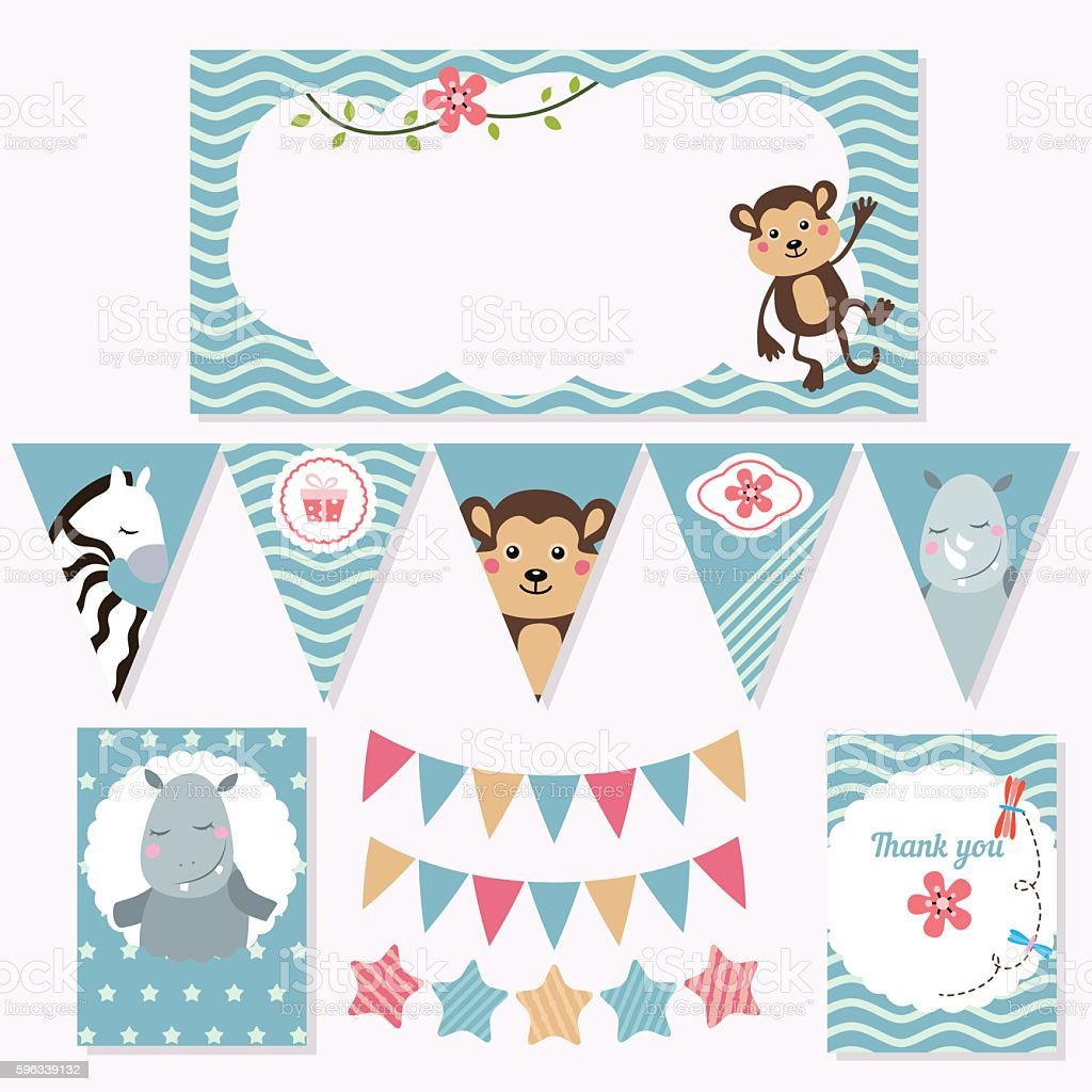 Set of birthday party elements royalty-free set of birthday party elements stock vector art & more images of birthday