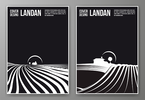 Set of black and white covers.