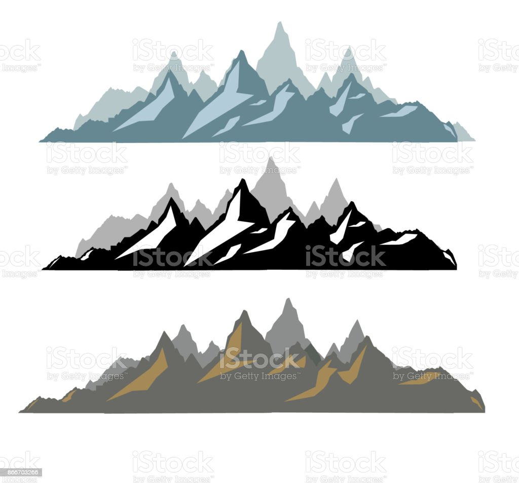 Rocky Mountain Skyline Silhouette