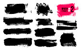 istock Set Of Black Brush Strokes, Paint, Ink, Grunge, Brushes, Lines. Dirty Artistic Elements, Boxes, Frames. Freehand Drawing. Vector Illustration. Isolated On White Background. 1141628599