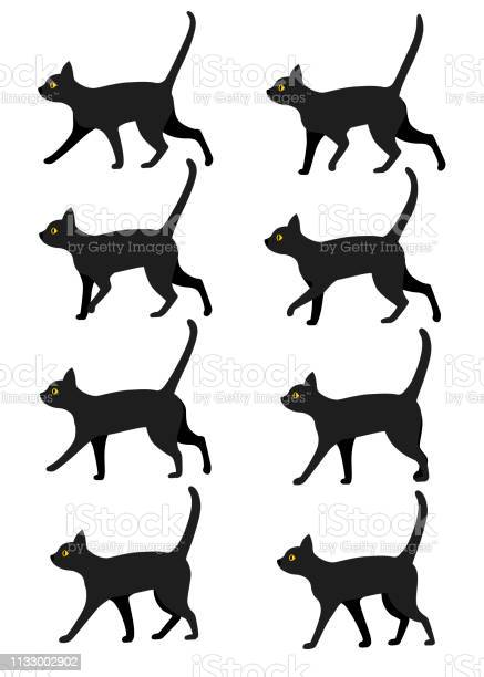 Set of black cat icon collection black cat poses for walk animation vector id1133002902?b=1&k=6&m=1133002902&s=612x612&h=aa1cvjfnhr9xwkv yrvtkqisrcffesbbe0udfdsuvhm=