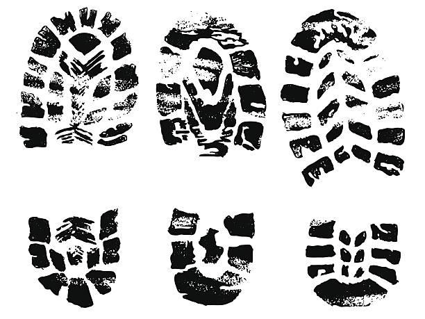 satz von schwarz über briefmarken - eleganter schuh stock-grafiken, -clipart, -cartoons und -symbole