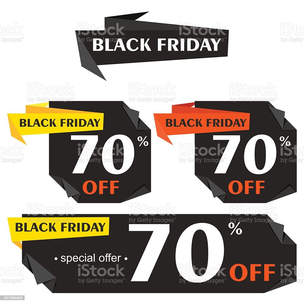 Set of black friday sticker set of black friday sticker cliparts vectoriels et plus d