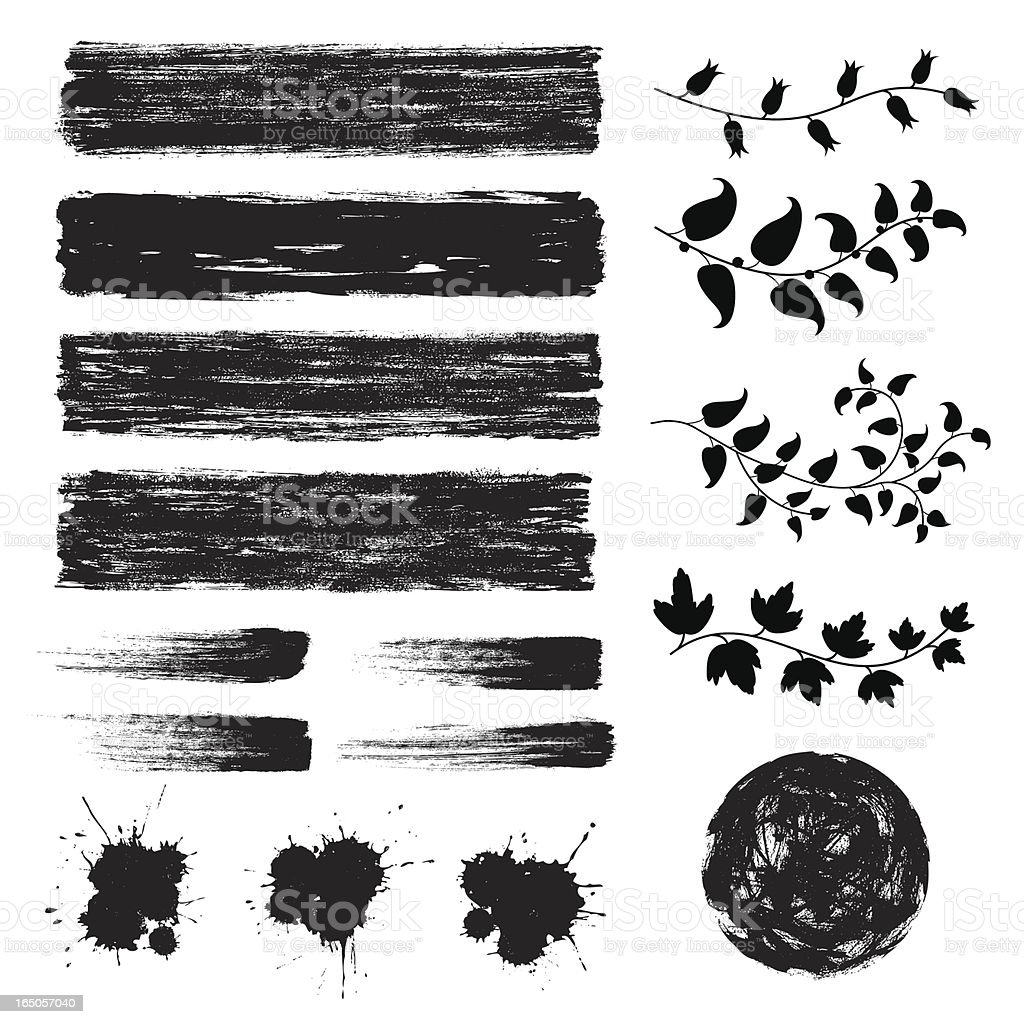 Set of black grunge design elements royalty-free set of black grunge design elements stock vector art & more images of abstract