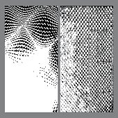 Set of black grunge texture background vector illustration