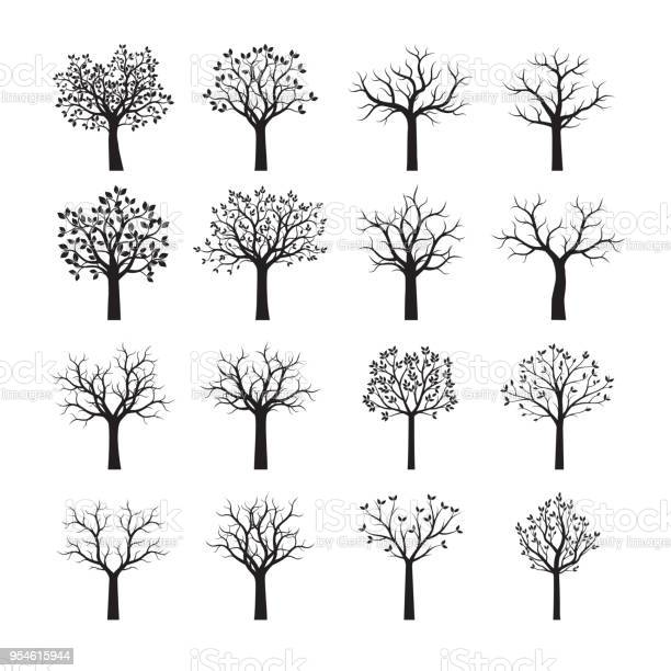 Set of black trees vector illustration vector id954615944?b=1&k=6&m=954615944&s=612x612&h=gecj2lsf6xlbwc57a7130bo6fogf0sm6b068st7tzyg=
