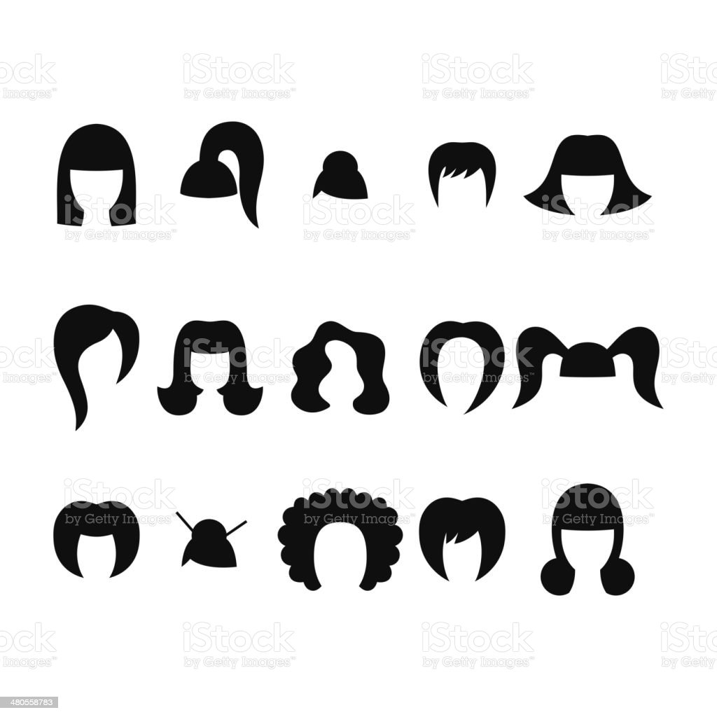Set Of Black Women Hairstyle Icons Stock Vector Art & More