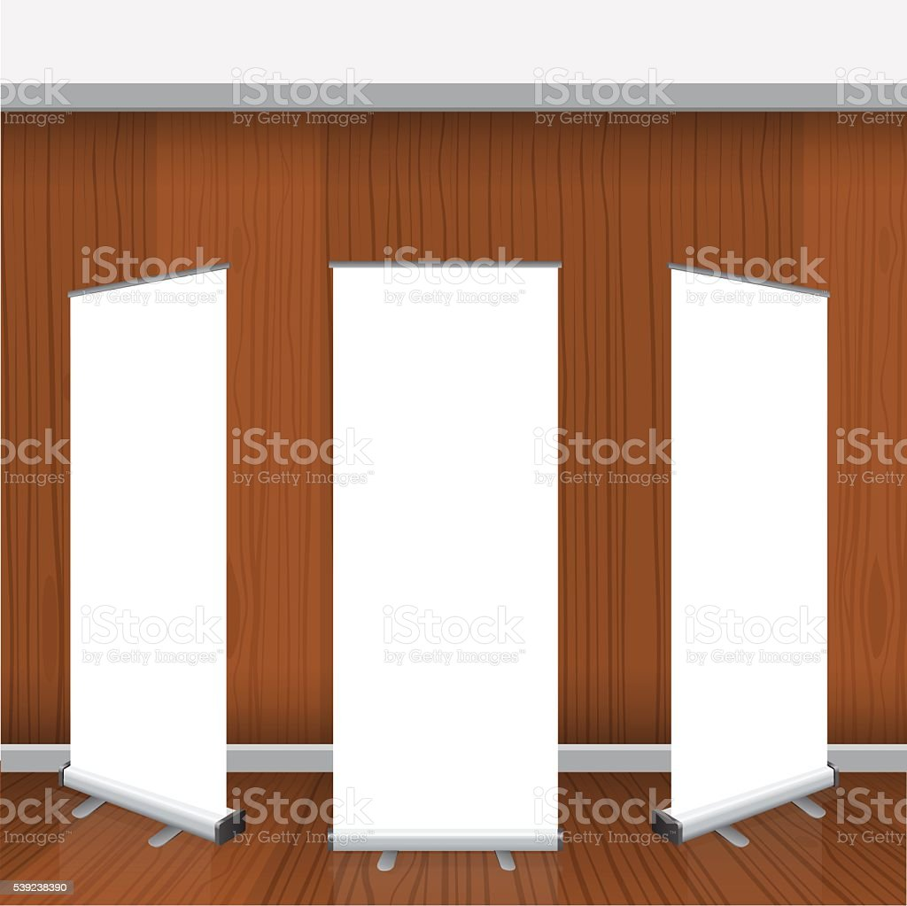 Set of Blank isolated vector roll up banners display mockup royalty-free set of blank isolated vector roll up banners display mockup stock vector art & more images of advertisement