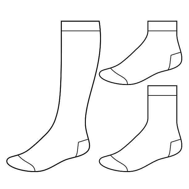 Set of blank socks vector art illustration