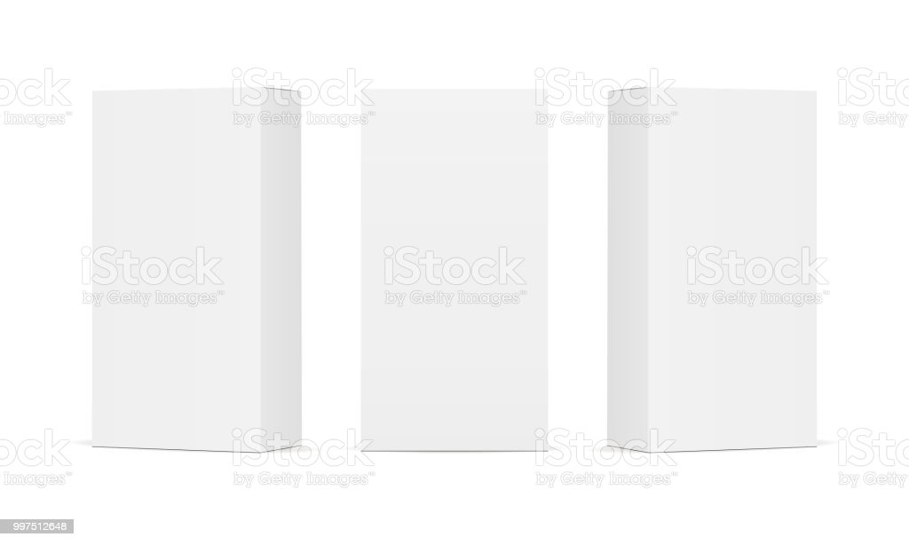 Set of blank white product packaging boxes - Grafika wektorowa royalty-free (Bez ludzi)