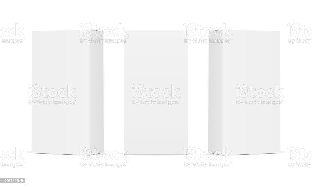Ensemble de boîtes d'emballage de produit blanc blanc - Illustration vectorielle