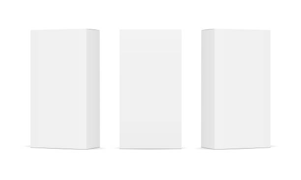 ilustrações de stock, clip art, desenhos animados e ícones de set of blank white product packaging boxes - packaging