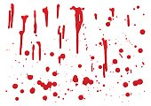ハロウィーンの装飾、ベクトル図では、ための血の設定 2