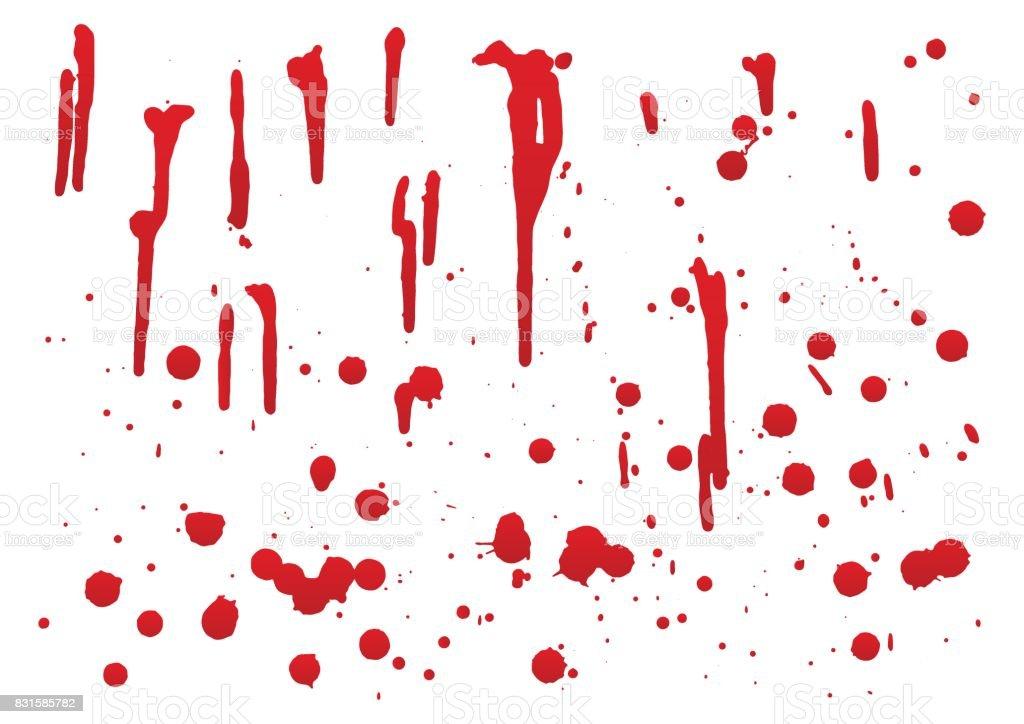 Blut für Halloween-Dekoration, Vektor-Illustration, Satz 2 – Vektorgrafik