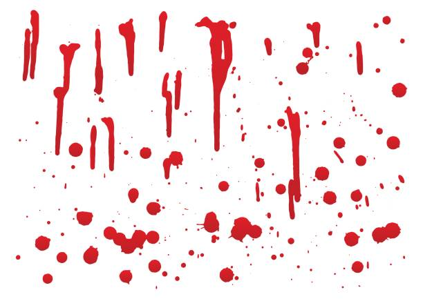 set of blood for halloween decoration, vector illustration, set 2 vector art illustration