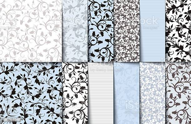 Set of blue white and gray seamless floral patterns vector vector id480236246?b=1&k=6&m=480236246&s=612x612&h=vxitfhufyldqn4lrorobvljkotdd5ayejubkvvw7 7g=