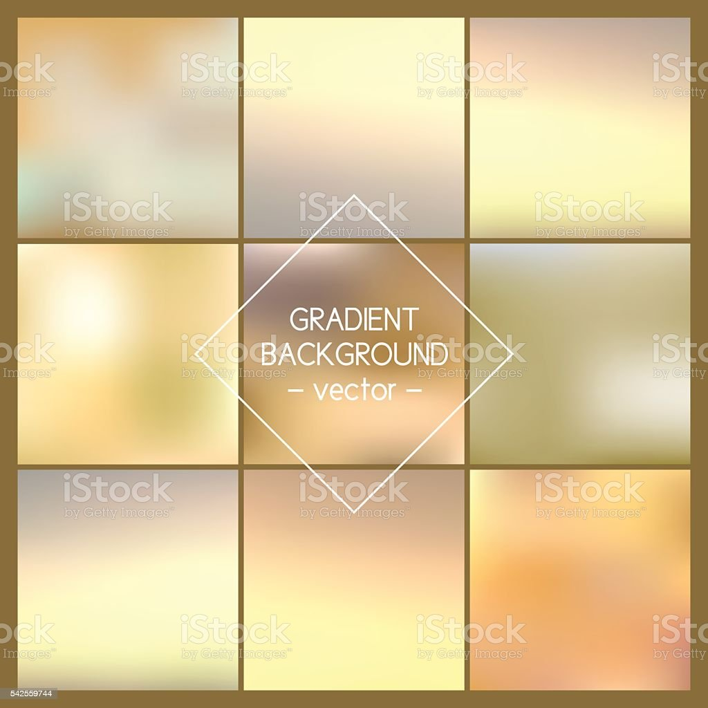 Set of Blurred vector backgrounds. vector art illustration