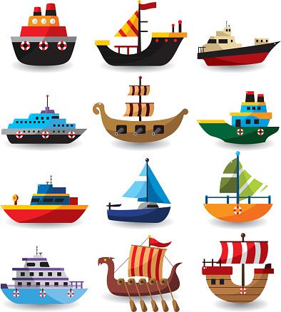 set of boat