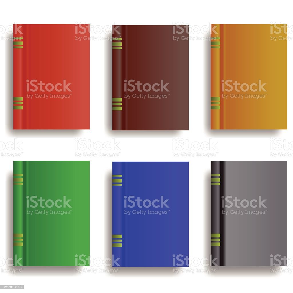 set of books vector art illustration