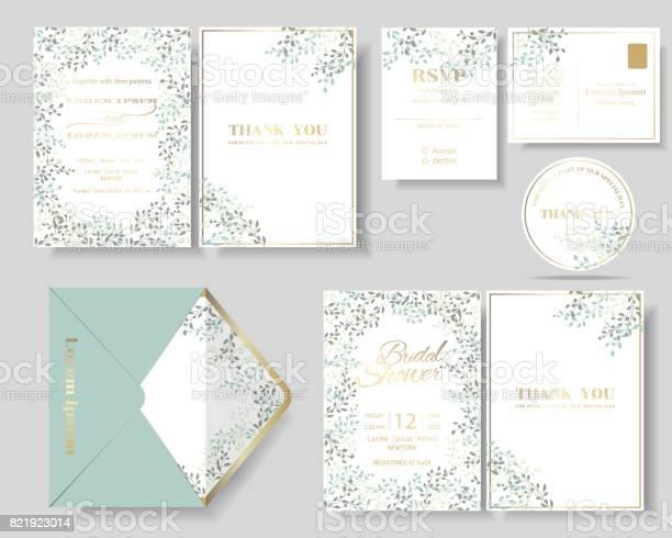 Set of botanical leaves wreath wedding invitation card vector id821923014?b=1&k=6&m=821923014&s=612x612&h=smu vat6mjdiufc0fzd2jliluphzzcffj5hj4rhft5s=