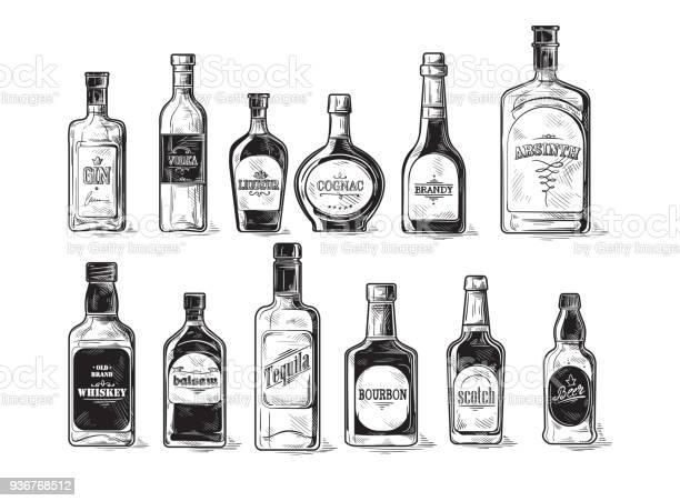 Set of bottles for alcohol vector id936768512?b=1&k=6&m=936768512&s=612x612&h=se2q9csunbkhzndhrfmag0 2n16fkujf77 cb9w3fh0=