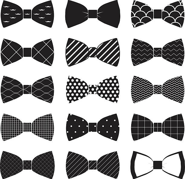 Royalty free bow tie clip art vector images illustrations istock set of bow tie in vector on white background vector art illustration voltagebd Choice Image