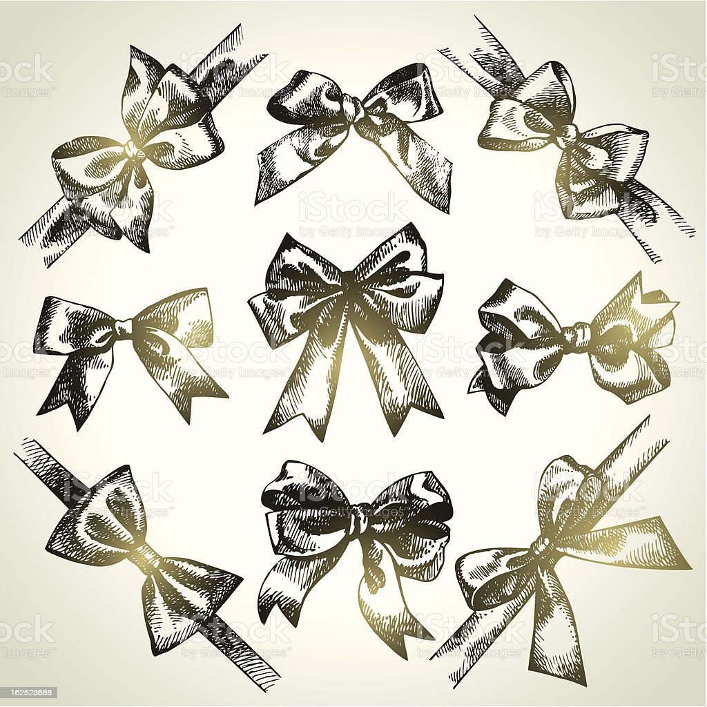 Set of bow royalty-free set of bow stock vector art & more images of anniversary