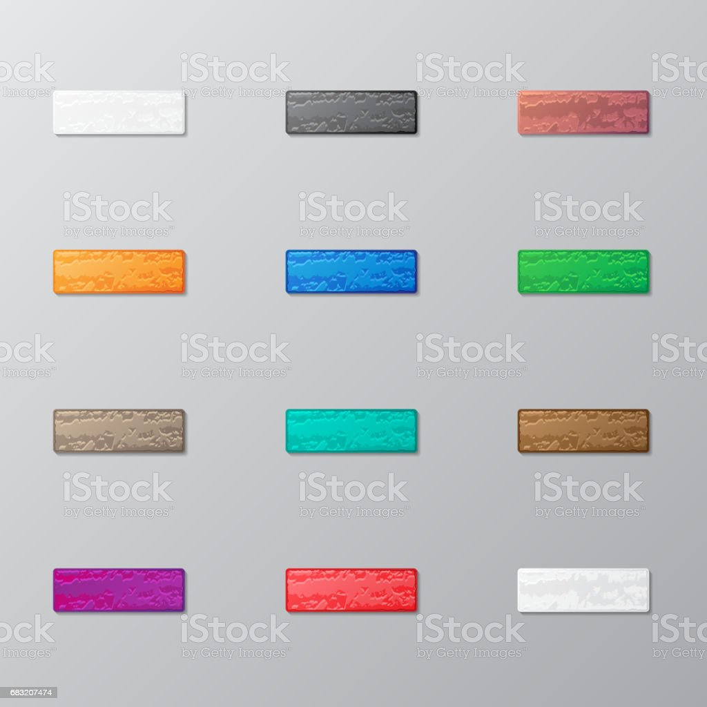 Set of bricks set of bricks - arte vetorial de stock e mais imagens de abstrato royalty-free