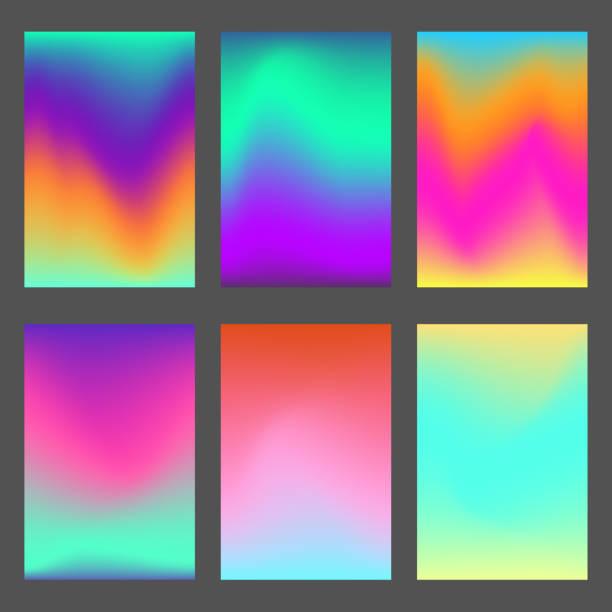 明るい波状動的な ui の背景のセット - オーロラ点のイラスト素材/クリップアート素材/マンガ素材/アイコン素材