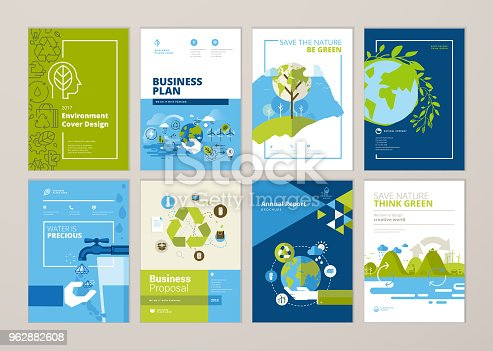 Vector illustrations for flyer layout, marketing material.