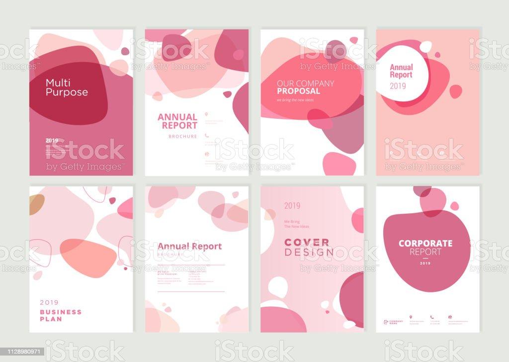 Set von Broschüre, Geschäftsbericht und Cover design-Vorlagen für Beauty, Spa, Wellness, Naturprodukte, Kosmetik, Mode, Gesundheitswesen - Lizenzfrei Abstrakt Vektorgrafik