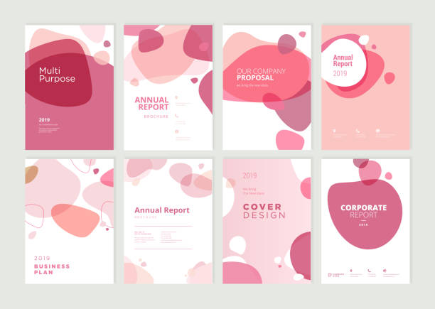 set of brochure, annual report and cover design templates for beauty, spa, wellness, natural products, cosmetics, fashion, healthcare - urok stock illustrations